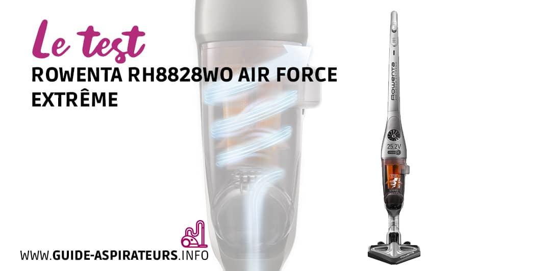 test Rowenta RH8828WO Air Force Extrême