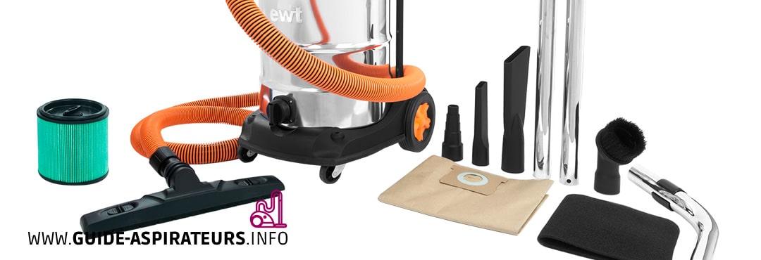 Les accessoires d'un aspirateur traîneau