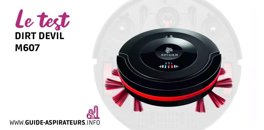 aspirateur robot dirt devil m607 notre test complet et. Black Bedroom Furniture Sets. Home Design Ideas